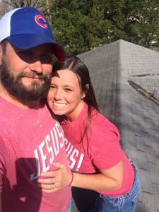 Jimi & LaDonna on roof
